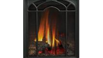 PHAZERAMIC burner system includes log set, glowing ember bed and burner
