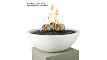Stainless steel fire ball ornaments 6pc set - fire bowl, lava rock, and pillar not included