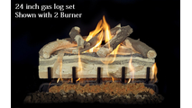 24 inch Blue Pine Split gas log set with 2 burner