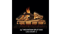 24 inch Mountain Split Oak Gas Log Set