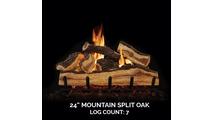 24 inch Mountain Split Oak Gas Log Set