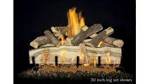 30 inch Blue Pine Split gas log set