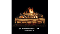 30 inch Mountain Split Oak Gas Log Set