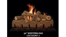 30 inch Western Oak Gas Log Set