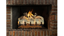 Blue Pine Split Log Set in gas fireplace