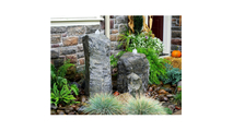 Double Cascade Fountain with Accent Rock
