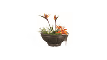 37 Inch Ronda Planter and Water Bowl
