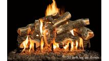 30 inch Arizona Weathered Oak gas log set