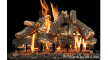 36 inch Arizona Weathered Oak gas log set