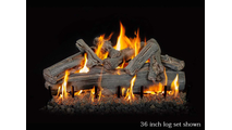 36 inch Western Driftwood gas log set