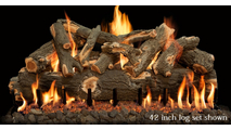42 inch Arizona Weathered Oak gas log set