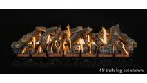 48 inch Arizona Weathered Oak gas log set