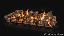 60 inch Arizona Weathered Oak gas log set
