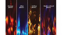 Allure Vertical Electric Fireplace flame colors