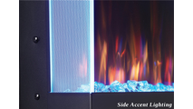 Side accent lighting for Allure Vertical Electric Fireplace