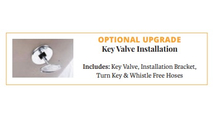 Optional key valve upgrade for fire bowls