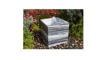 16″ White Gray Cube Fountain