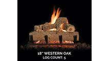 18 inch Western Oak Log Set