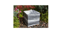 20″ White Gray Cube Fountain