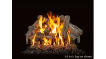 24 inch Western Driftwood Gas Log Set