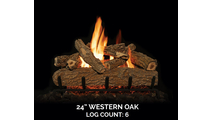24 inch Western Oak Gas Log Set