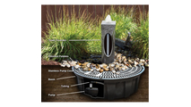30″ White Gray Marble - Cairn Fountain Kit