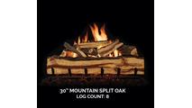 30 inch Mountain Split Oak Gas Log Set