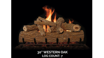 30 inch Western Oak Gas Log Set