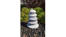 36″ White Gray Marble - Cairn Fountain Kit