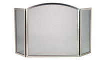 3 Fold Arched Satin Nickel Screen
