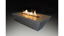 Olympus Rectangular Fire Table is 60 inches wide - Shown in gray color option