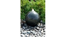 16″ Black Granite Sphere Fountain