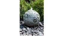 16″ Green Marble Sphere Fountain