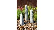 Green Marble Triple Pillar Fountain
