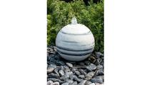 20″ White Gray Marble Sphere Fountain