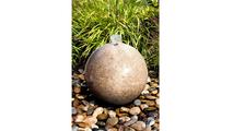 16″ Yellow Granite Sphere Fountain
