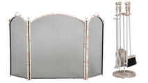 3-fold Floral Screen with Matching Tool Set