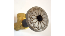Beachnut Bronze Flange Cover with Hermosa Design on Escutcheon