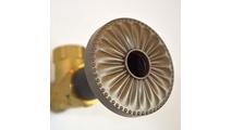Beachnut Bronze Flange Cover with Laguna Design on Escutcheon