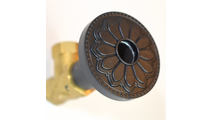 Flat Black Flange Cover with Hermosa Design on Escutcheon