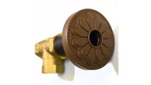 Glamour Gold Flange Cover with Hermosa Design on Escutcheon