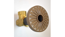 Glamour Gold Flange Cover with Laguna Design on Escutcheon