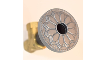 Seaside Silver Flange Cover with Hermosa Design on Escutcheon
