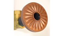 Newport Copper Flange Cover with Laguna Design on Escutcheon