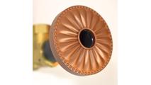 Newport Copper Flange Cover with Laguna Design on Escutcheon
