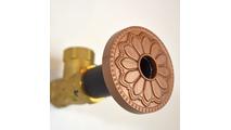 Newport Copper Flange Cover with Hermosa Design on Escutcheon