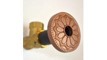 Newport Copper Flange Cover with Hermosa Design on Escutcheon