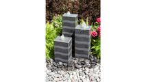 Gray Wave Triple Column Fountain Kit