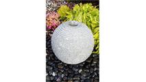 Medium Ribbed Sphere - Granite Fountain Kit