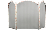 3-Fold Floral Arched Screen